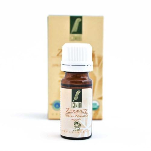 Био етерично масло от български Здравец 10% в масло от жожоба 'Ecomaat', 10ml