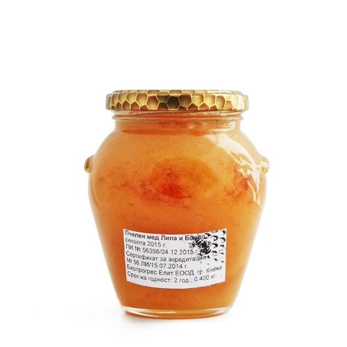 Билков пчелен мед от Магарешки бодил и Липа /кристализирал/ от района на гр. Кнежа, 400g