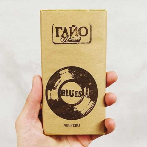 Черен шоколад със 70% какао от Перу с екзотични нотки на червени плодове и гора BLUES, 'ГАЙО'