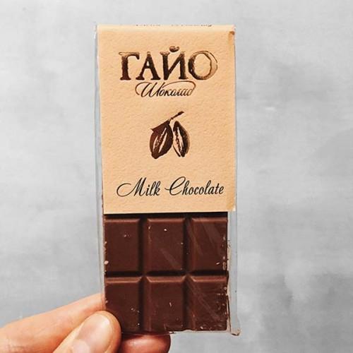 Млечен ръчно направен 'занаятчийски' шоколад с био какао ГАЙО, 40g
