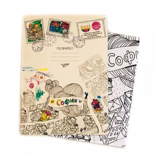 Плакат за оцветяване 'София за малчугани', 70х100 см