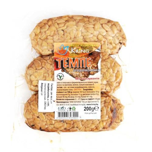 Темпе /ферментирали соеви зърна, филенца/ - богато на растителен протеин, 200 г