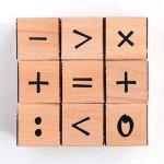 Дървени кубчета с числа 'Научи цифрите' от 9 части 'Kubco' за деца на 2+ години