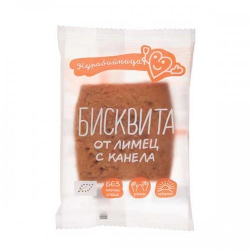 Бисквита от лимец с мед и канела /БИО, веган/ 'Курабийница', 37 гр.