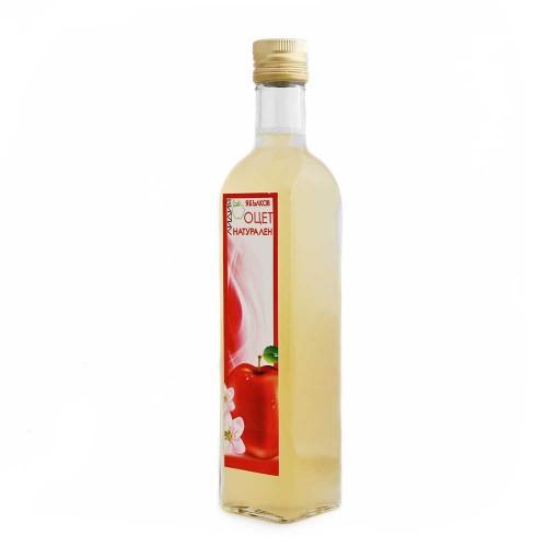 Ябълков оцет натурален /нефилтриран, мътен/ 'Лидия', 500ml