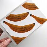 Картичка с плодове БАНАНИ в плик 'Бяла лодка'