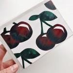 Картичка с плодове ЧЕРЕШИ + плик 'Бяла лодка'