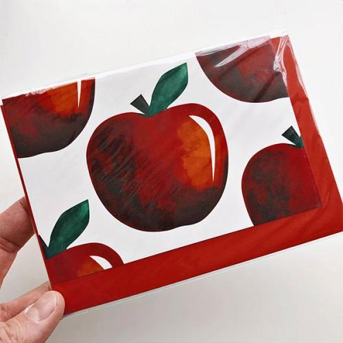 Картичка с плодове ЯБЪЛКИ + плик 'Бяла лодка'