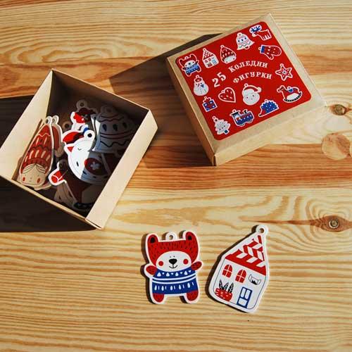 Коледни фигурки-играчки от картон /25 различни форми/, Бяла Лодка
