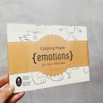 Плакат с емоциите за оцветяване 'Бяла лодка' 50х70см