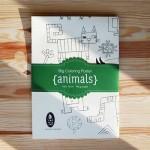 Плакат за оцветяване 'Животни/Animals' с размер 100х70см, Бяла лодка