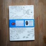 Плакат за оцветяване 'Океан' /100х70см/, Бяла лодка