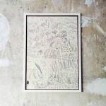 Плакат за оцветяване 'Моята градина №2' 50х70 см /навит в тубус/, Бяла лодка