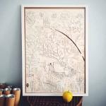 Плакат за оцветяване 'Моята градина №1' 50х70 см, Бяла лодка