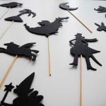 Театър на сенките - игра за деца с 20 фигурки от картон за измисляне на приказки, Бяла лодка
