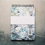 Тефтер за писане и рисуване от 100% рециклирана хартия без редове 'Beautiful Mess 02', Бяла лодка