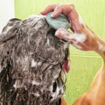 Твърд шампоан за нормална към мазна коса, обогатен с бяла и зелена глина 'МОРАВА', 50 г