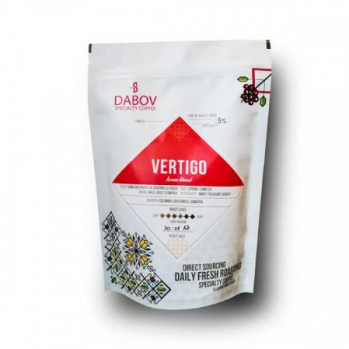 Прясно изпечена 100% арабика Еспресо смес 'Vertigo' с вкус на червени плодове 200g, DABOV Specialty Coffee