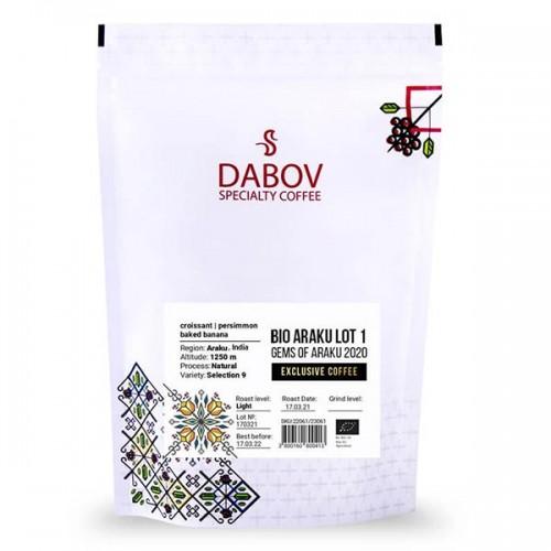 Индия ЛОТ 1 от GEMS OF ARAKU 2020 /черен етикет, БИО/ 100% кафе Арабика 'DABOV Specialty Coffee' с вкус на кроасан и райска ябълка
