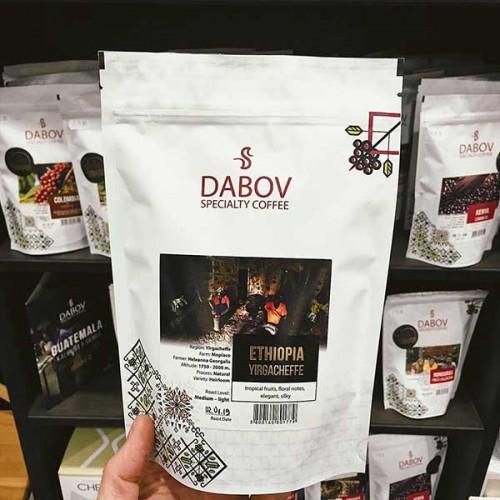 Етиопия Иргачеф /черен етикет/ 100% Арабика, наследствен сорт 'DABOV Specialty Coffee' с вкус на тропически плодове