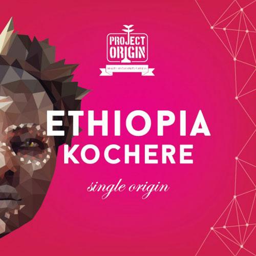 Етиопия Кочере по проект 'Project Origin' от DABOV Specialty Coffee - прясно изпечено кафе /арабика, сорт Бурбон/, 200g