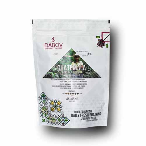 Гватемала Ла Болса от DABOV Specialty Coffee - прясно изпечена 100% арабика сорт Бурбон и Катура с вкус на шоколад и горски плодове, 200g