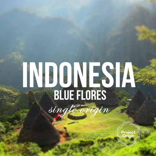 Индонезия 'Blue Flores' от Project Origin на DABOV Specialty Coffee - прясно изпечена арабика, сорт Типика с вкус на шоколад и череша, 200g