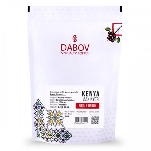 Кения АА+, Ниери /червен етикет/ - прясно изпечено кафе арабика 'DABOV Specialty Coffee' с вкус на касис, нар и горски плодове, 200 г
