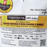 Еспресо смес 'Impressions' DABOV Specialty Coffee - прясно изпечена арабика /сорт Типика, Бърбън/ с аромат на сладък шоколад и лешници, 200g