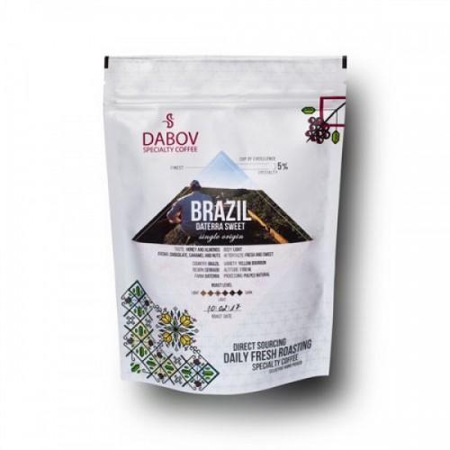 Бразилия, сорт 'Жълт бърбън' /Суийт Датера/ DABOV Specialty Coffee - прясно изпечено арабика с вкус на мед и бадеми, 200g