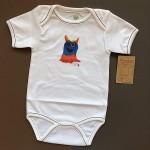 Бебешко боди от 100% органичен памук без никел с илюстрация 'Чудовище', 6-12 и 12-18 месеца