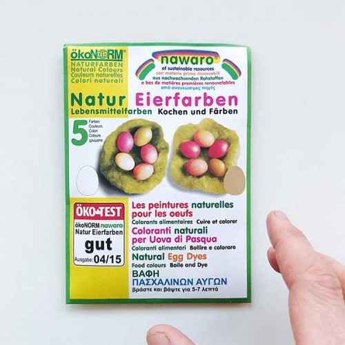 Натурална боя за яйца - 5 натурални цвята, достатъчна за до 35 бр. яйца