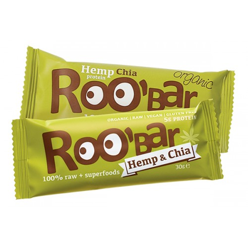 Суров био десерт Roobar с конопен протеин и чиа /веган/, 30g
