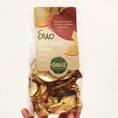 Ябълков чипс БИО /хрупкав, без добавена захар/ 'SERENA', 50 гр.