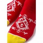 Чорапи Stinky Socks 'Red Kitka' с антибактериално покритие, вдъхновени от българския фолклор