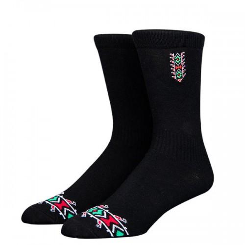 Чорапи Stinky Socks 'Makaz Black' с бродерия на шевица - средно дълги с антибактериално покритие