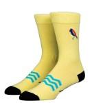 Чорапи Stinky Socks 'Surfing bird' с бродерия - средно дълги с антибактериално покритие