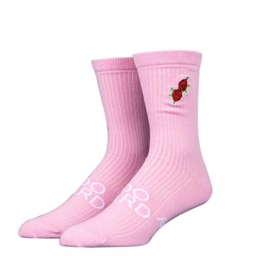 Чорапи Stinky Socks 'TOO HARD' с бродерия на рози - средно дълги с антибактериално покритие