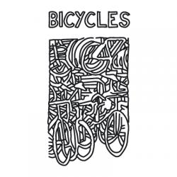 Временна дизайнерска татуировка 'Велосипеди' /комплект от 2 еднакви броя/