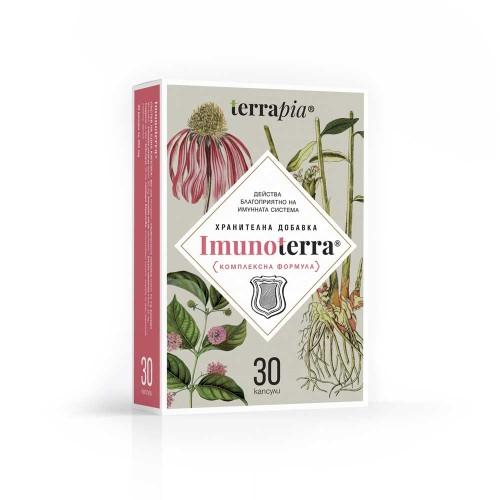 Комплексна биоактивна формула за укрепване на Имунната система с Ехинацея и Котешки нокът 'Immunoterra', Terrapia