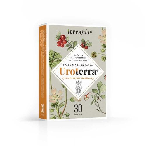 Комплексна биоактивна формула при инфекции и дискомфорт в Уринарния тракт 'Uroterra', Terrapia
