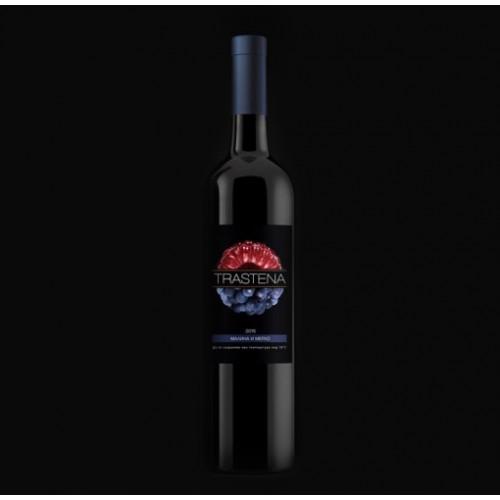 Малиново вино + 50% червено вино Мерло 'Трастена' реколта 2017, 0,75l