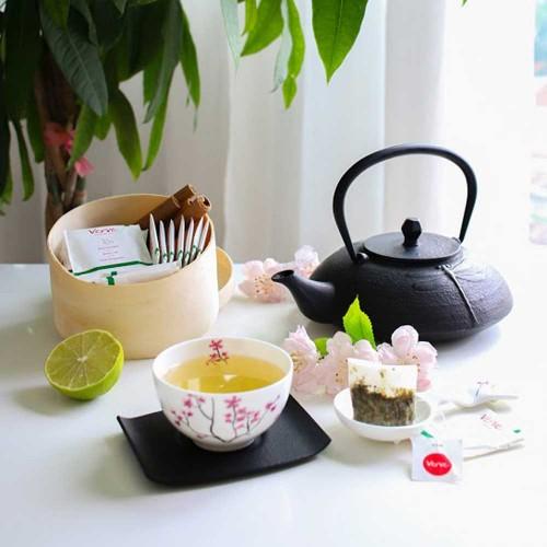 Чай с Джинджифил 45%, Зелен чай и Лимонена трева 'Verve', 20 бр. торбички с конец