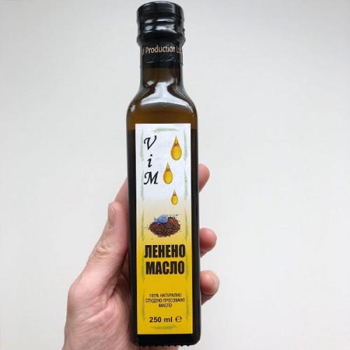 Ленено масло /студено пресовани семена лен/ за здраво Сърце, 250ml