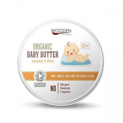 Бебешки крем за тяло 0+ с Бадем, Макадамия и Карите /био/ 'Wooden Spoon', 100ml