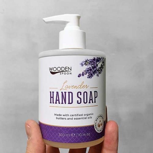 Течен сапун с органично масло от Лавандула 'Wooden Spoon', 300 мл