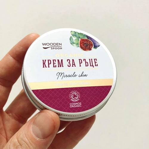 Крем за ръце с масло от Смокиня, Кафе и Малини против петна Miracle skin 'Wooden Spoon', 60ml
