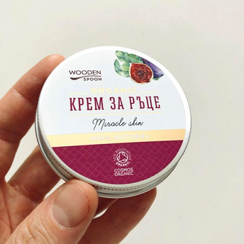 Крем за ръце против старчески петна Miracle skin с масла от смокиня, малини и черен бъз 'Wooden Spoon'