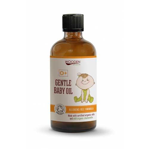 Подхранващо бебешко био олио с Бадемово, Лайково и Кайсиево масло /без алергени/ 'Wooden Spoon', 100ml