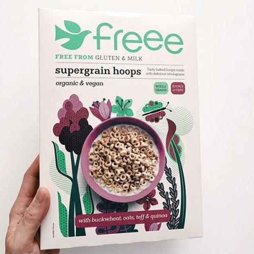 Многозърнеста хрупкава закуска - микс от 6 безглутенови култури /веган, био/ FREEE by Doves Farm, 300 г